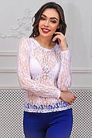 Женская кофта из сетки с длинными рукавами 90278