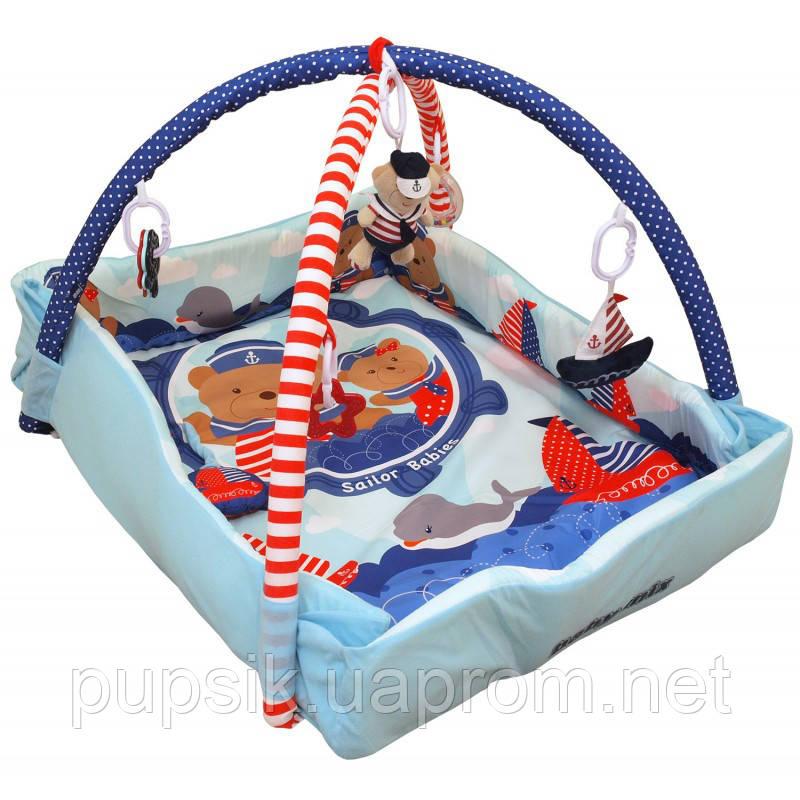 Развивающий коврик Baby Mix TK/Q3261CE-62104 Мишки-моряки blue