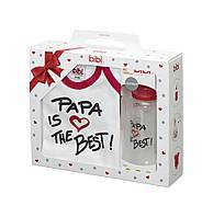 Bibi - Подарочный набор Папа Лучший (бутылочка и бодик)