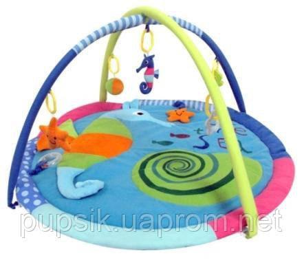 Развивающий коврик Baby Mix TK/3293С Морской конек blue