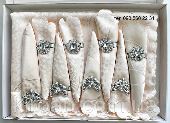 Сктерть с салфетками и держателями в подарочной коробке 150х220 (Kol-S04) нежно-розовая, фото 2