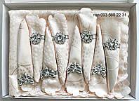 Сктерть с салфетками и держателями в подарочной коробке 150х220 (Kol-S04) нежно-розовая