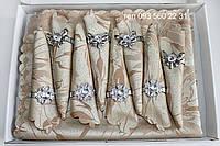 Сктерть с салфетками и держателями в подарочной коробке 150х220 (Kol-S04) коричнево-бежевый