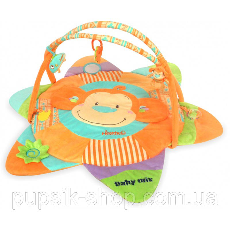 Развивающий коврик Baby Mix TK/3305С Мартышка orange