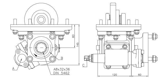 Коробка відбору потужності FHER Isuzu бічна, механіка\вакуум