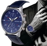 Часы мужские наручные MiGEER c синим циферблатом
