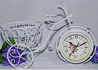 Часы настольные металл велосипед