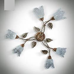 Люстра потолочная с деревом 6-ти ламповая 346