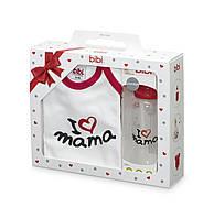 Bibi - Подарочный набор Я люблю Maму (бутылочка и боди)