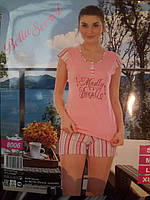 Женская пижама футболка и шортики
