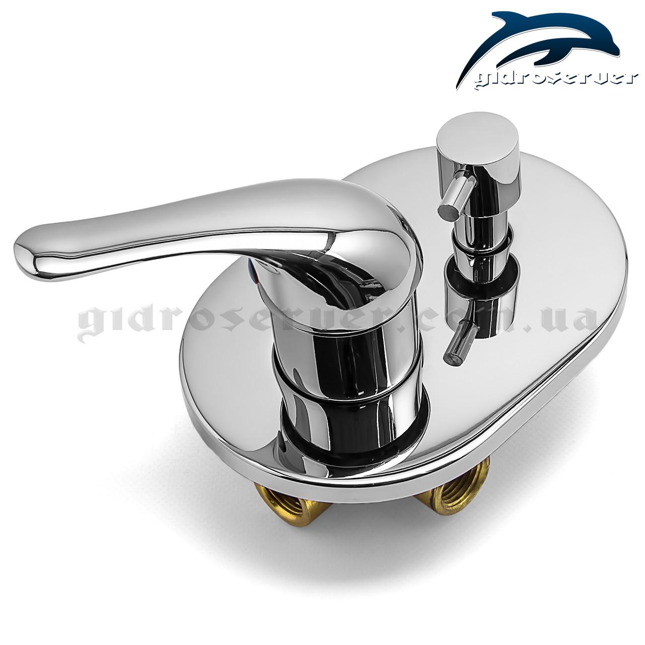 Смеситель для душа и ванны скрытого монтажа SV-02 на 2 режима., фото 1