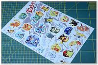 "Набор наклеек Stickerbomb А4 ""Pokemons"""