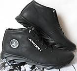 Jordan зимние кроссовки! Мужские кросовки натуральная кожа обувь в стиле Джордан мех, фото 4