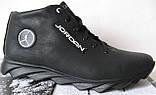 Jordan зимние кроссовки! Мужские кросовки натуральная кожа обувь в стиле Джордан мех, фото 6