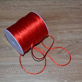 Канат декоративный атласный (красный)