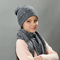 Комплект шапка и хомут весна для девочки Валери