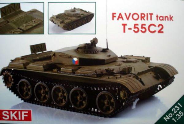 T-55C2 ФАВОРИТ. 1/35 SKIF MK231