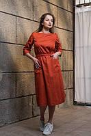 """Платье коралловое с запахом на спине """"Вавилон"""", дизайнерская модная одежда, Likey, Украина"""