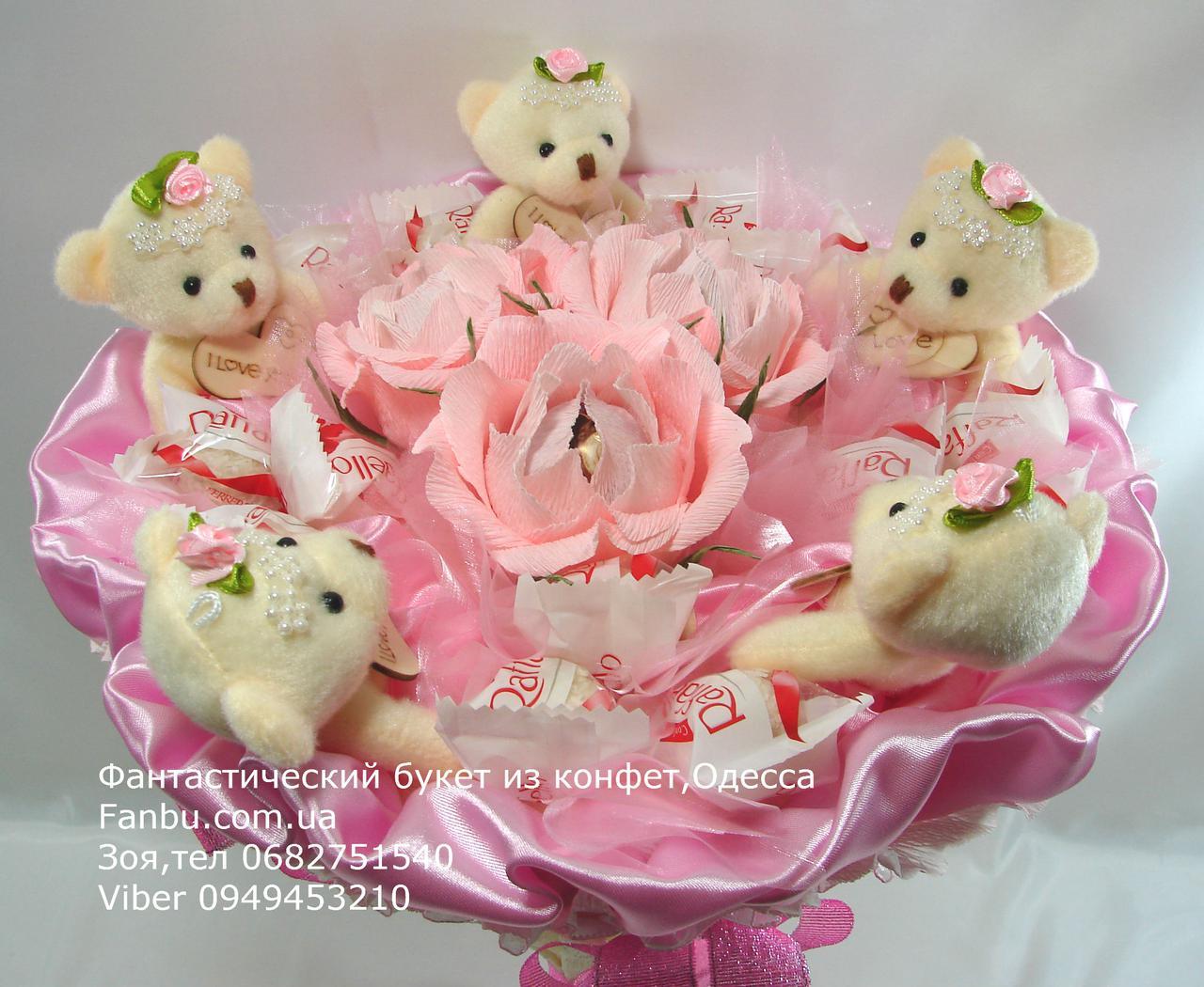Букет для новобрачных из плюшевых мишек — 3