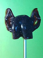 ЖОПА с ушами, черная конфета-леденец на палочке. 3D.