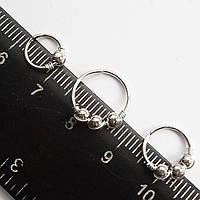 Набор колец 3 шт. (диаметр 6, 8, 10 мм) для пирсинга., фото 1