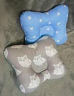 Ортопедическая подушка двустороняя Совушки голубая, тм Лари