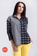 Женская блузка рубашечного типа в клетку