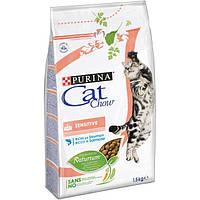 Cat Chow Sensitive 1,5кг -для кошек с чувствительным пищевареньем