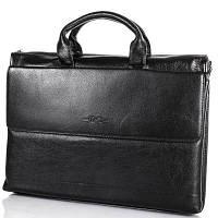 Кожаный мужской портфель с отделением  для ноутбука H.T(ЭЙЧ ТИ) TU7822-1-black