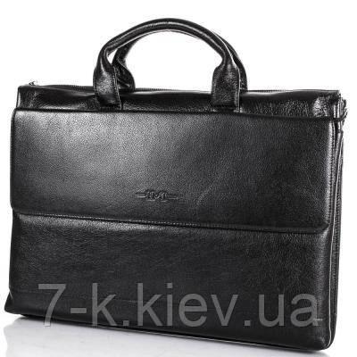 0134754acd09 Кожаный мужской портфель с отделением для ноутбука H.T(ЭЙЧ ТИ)  TU7822-1-black