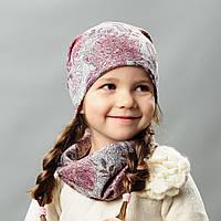 Комплект шапка и хомут весна  для девочки