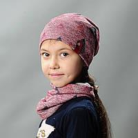 Комплект шапка и хомут весна  для девочки Нинэ