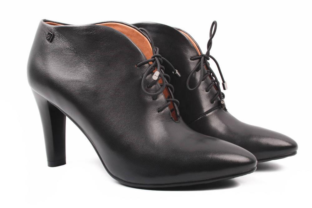 Ботильоны женские Berkonty натуральная кожа, цвет черный (ботинки, каблук,  весна осень fb6eafd3c7b