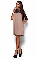 Коктельное платье Agnolia, бежевый (S, M, L)