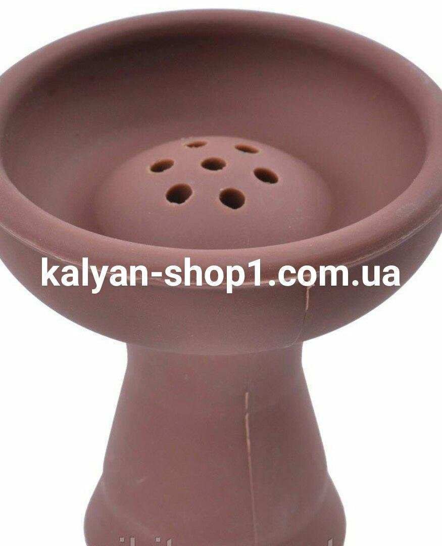 Силиконовая чаша  для кальяна   AMY Deluxe   коричневого цвета   под Kaloud Lotus калауд лотос