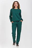 Женский костюм со стразами: брюки и толстовка
