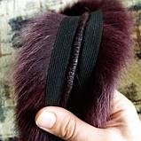 Опушка из натурального меха песца Марсала 70 см, фото 3