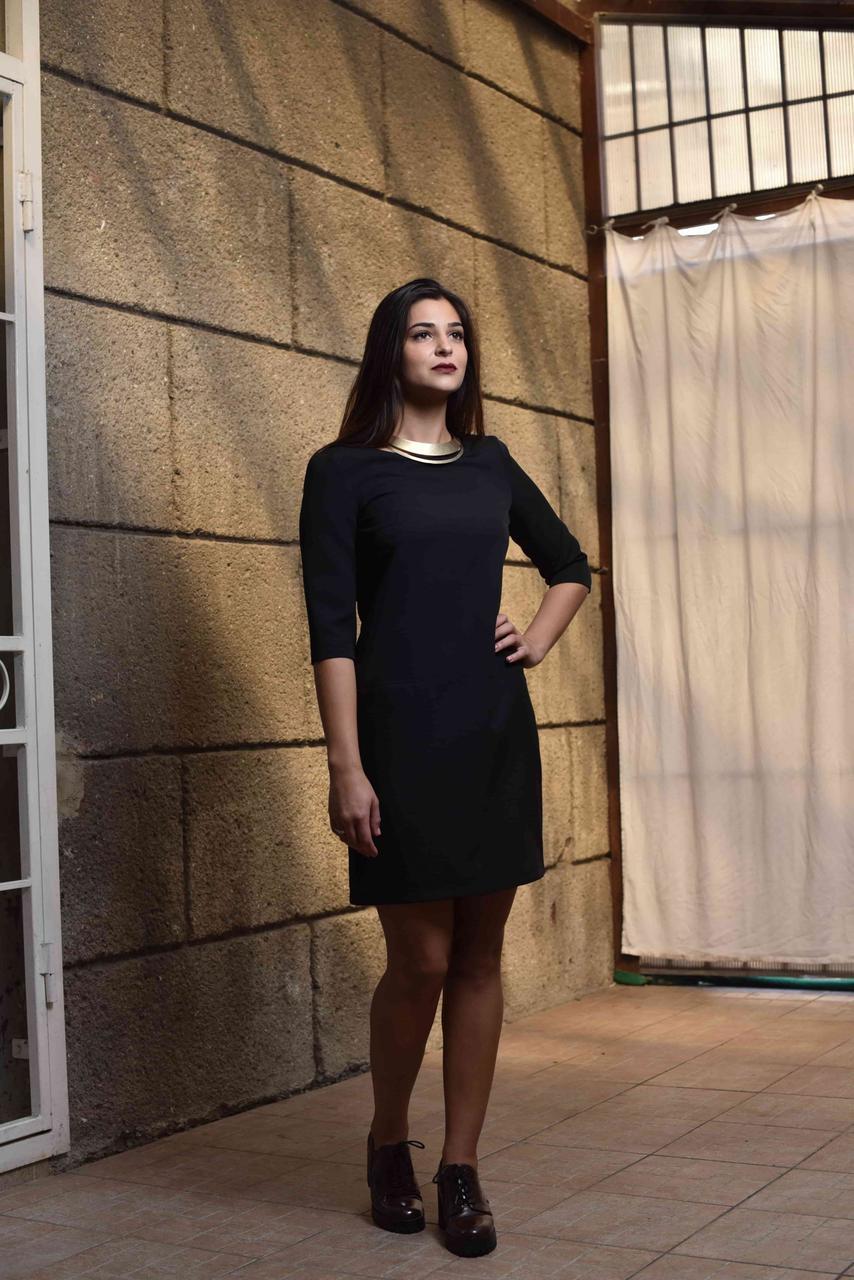 936f6106b54 Платье миди черное