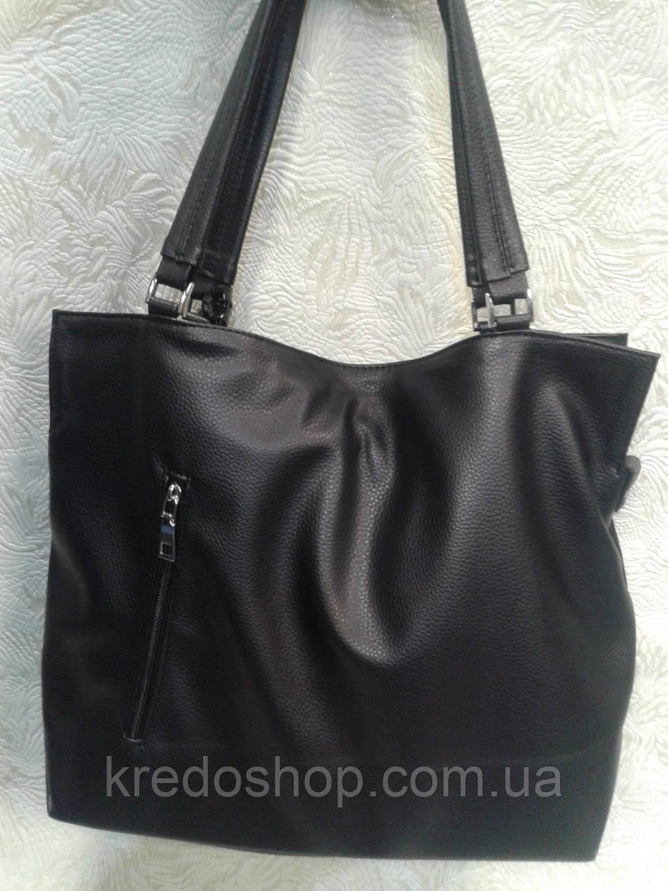 b62282c6f13b Женская сумка замшевая черная стильная вместительная, цена 819 грн., купить  в Кривом Роге — Prom.ua (ID#646230096)