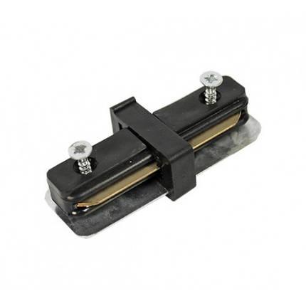 Коннектор для шинопровода (трека, шины) 180°, черный, фото 2