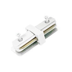 Коннектор для шинопровода (трека, шины) 180°, белый