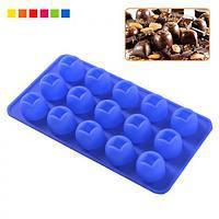 Силиконовая форма для шоколадных и желейных конфет Круглая 21*11 см
