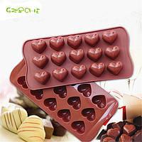 Силиконовая форма для льда,шоколадных и желейных конфет сердце 21*11 см