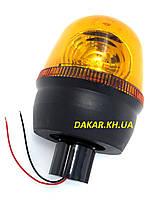 Проблесковый маяк на трубу EMR 05 Emir 12V жёлтый мигалка галогенная