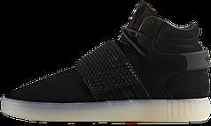 Мужские кроссовки AD Tubular Invader Strap Shoes Black Ice White. ТОП Реплика ААА класса.