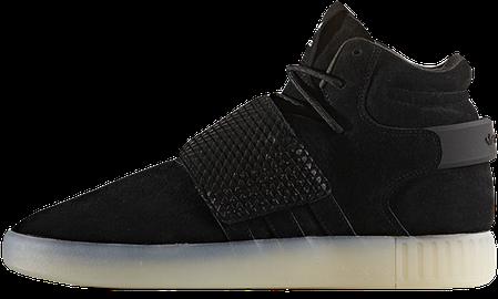 Мужские кроссовки AD Tubular Invader Strap Shoes Black Ice White. ТОП Реплика ААА класса., фото 2