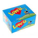 Жвачка Love is вкус яблоко-лимон (блок 100 штук), фото 5