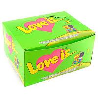 Жвачка Love is вкус яблоко-лимон (упаковка 25 штук)