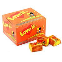 Жвачка Love is вкус апельсин-ананас (упаковка 25 штук)