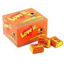 Жвачка Love is вкус апельсин-ананас (блок 100 штук)